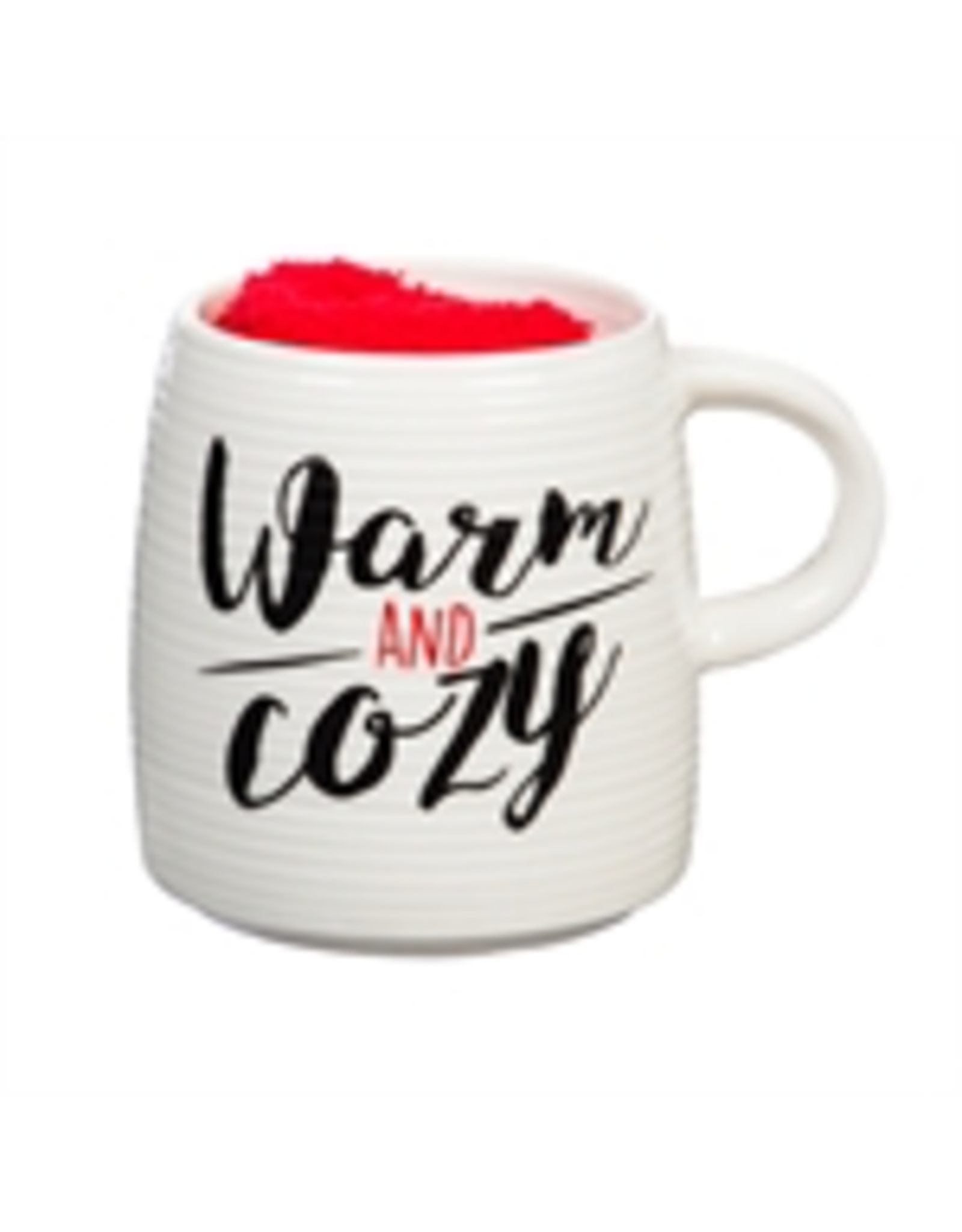 Evergreen Enterprises Ceramic Cup and Sock Gift set, Warm and Cozy