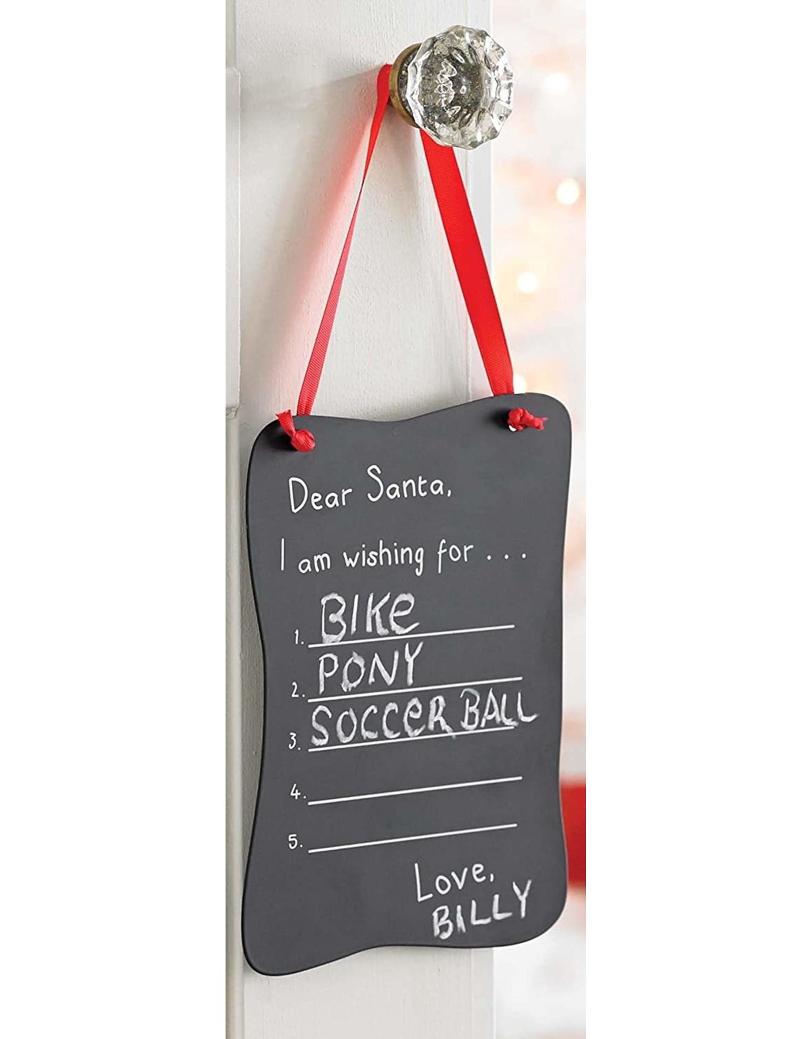 Mudpie Letter to Santa Chalkboard Door Ornament