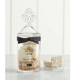 Mudpie Fleur De Lis Soap Jar