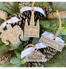 Miche Designs MICHE-COOKIE CUTTER LASER ORNAMENTS: New Orleans Collection