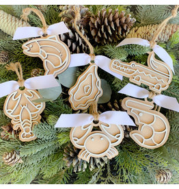 Miche Designs MICHE-COOKIE CUTTER LASER ORNAMENTS: Bayou and Seafood Collection