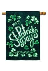 Evergreen Enterprises St. Patrick's Day Shamrocks House Flag