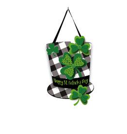 Evergreen Enterprises Plaid St. Patrick's Day Hat Door Décor