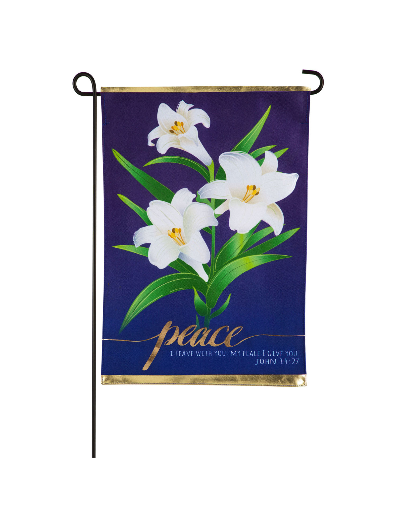 Evergreen Enterprises Easter Lilies Garden Linen Flag