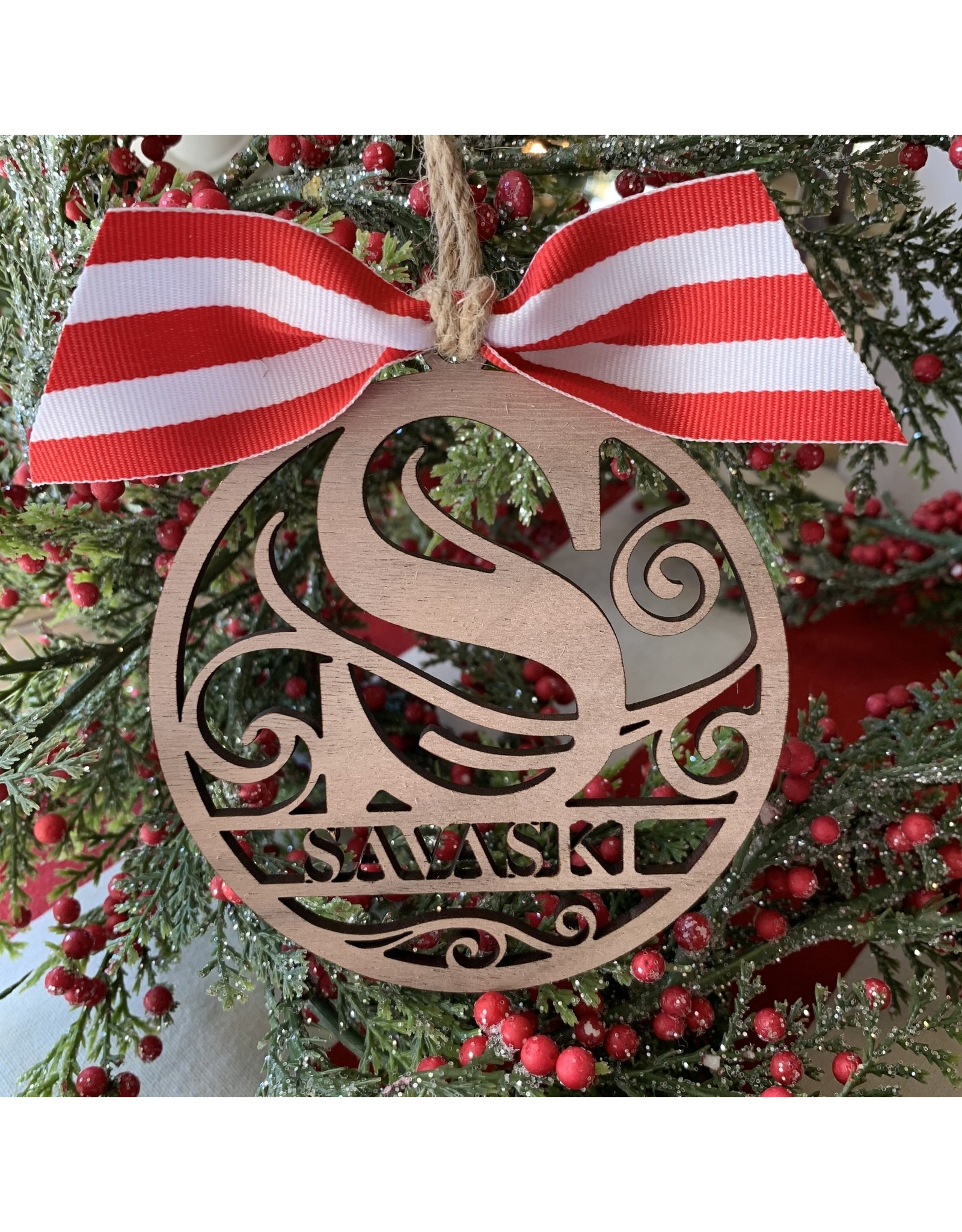 Miche Designs MICHE- LASER CUT FAMILY NAME CHRISTMAS ORN
