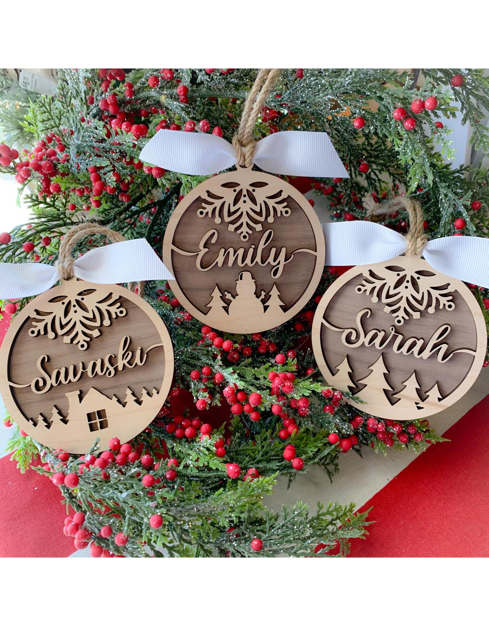 Miche Designs MICHE- 2 LAYER PERSONALIZED CHRISTMAS ORN