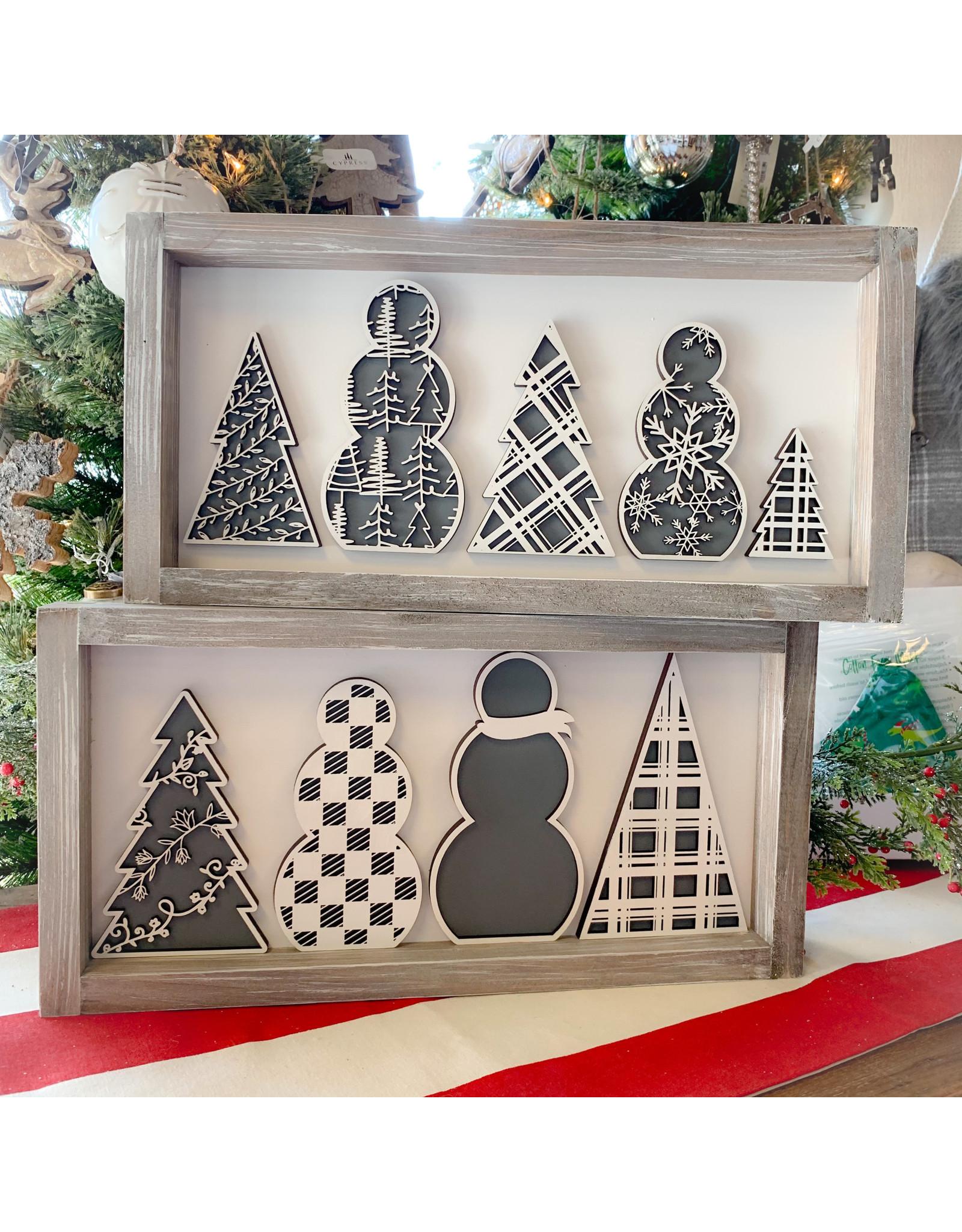 Miche Designs MICHE- SNOWMAN /TREE Farmhouse Cutout