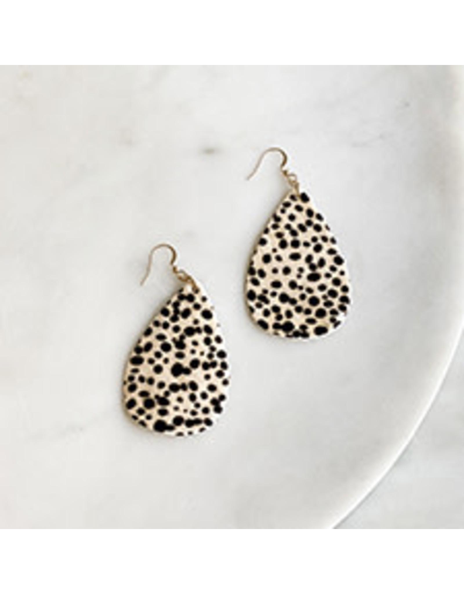 The Royal Standard Sawyer Cheetah Hide Earrings