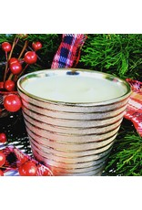 Southern Lights Gold Stripe Holiday Candle -Spiced Cranberry 18oz
