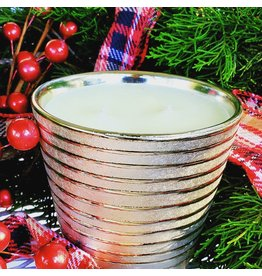 Southern Lights Gold Stripe Holiday Candle - Autumn Leaves 18oz