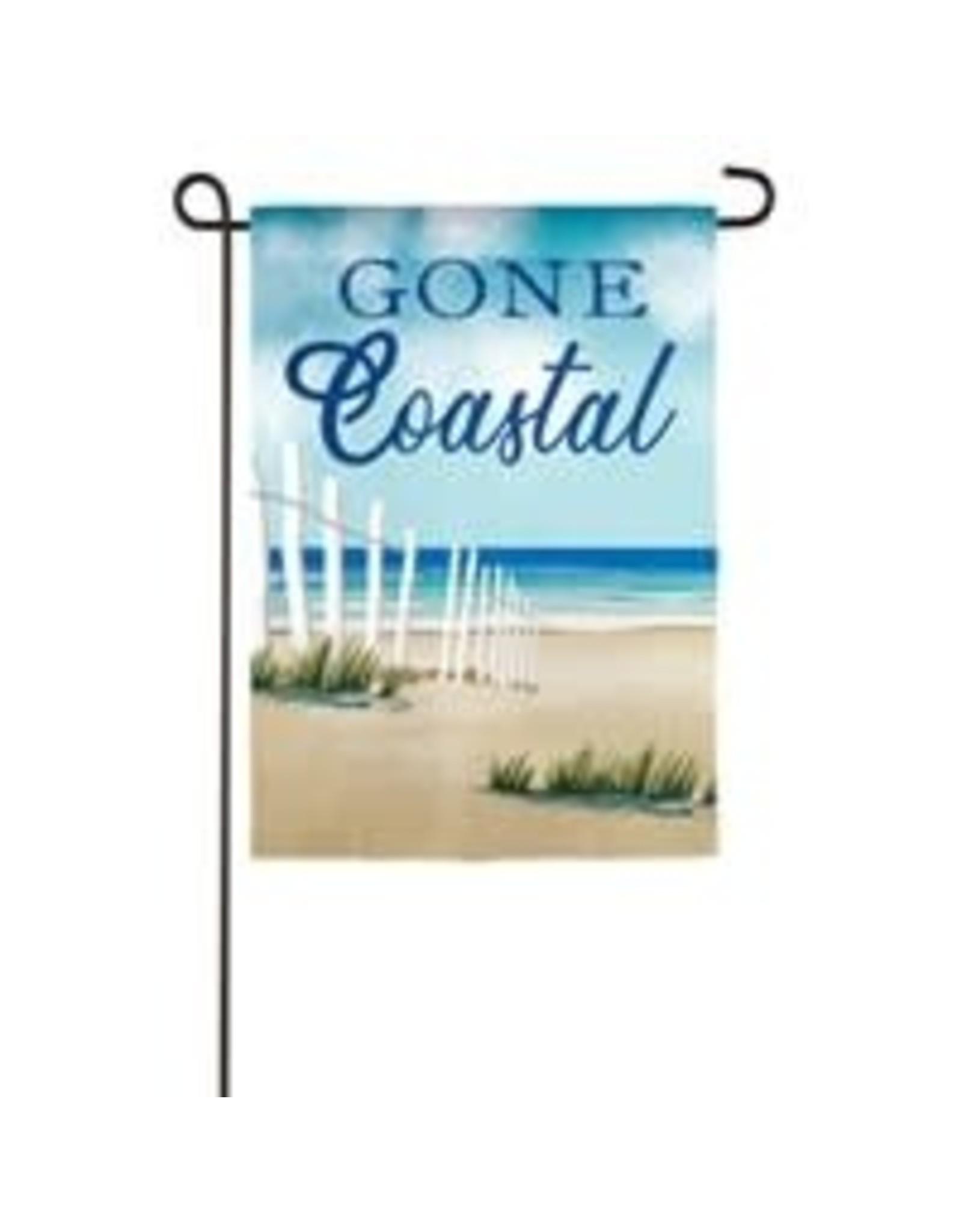 Evergreen Enterprises Gone Coastal Garden Burlap Flag