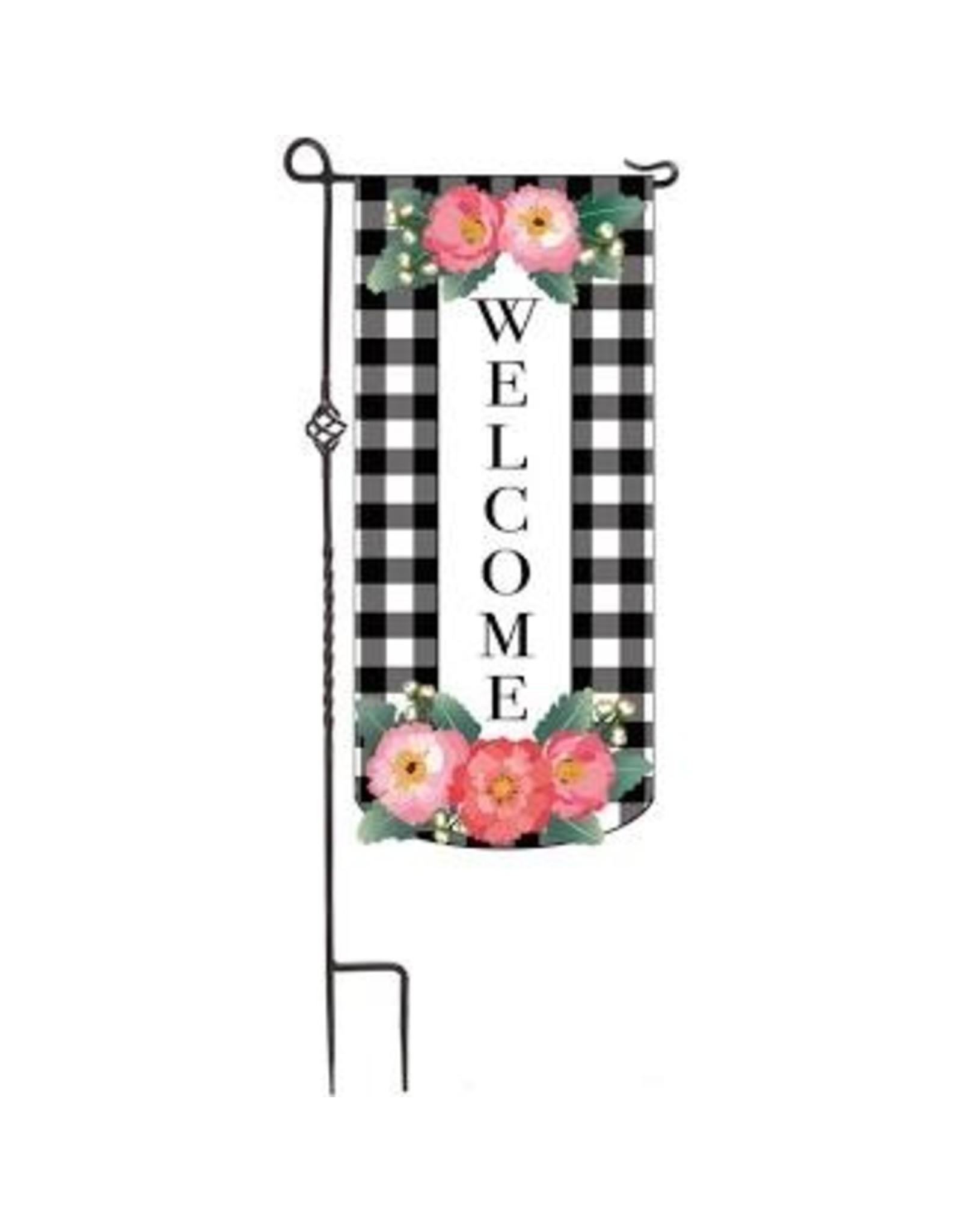 Evergreen Enterprises Spring Floral Welcome Everlasting Impressions Textile Décor