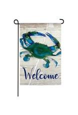 Evergreen Enterprises Blue Crab Garden Suede Flag