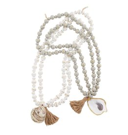 Mudpie White Oyster Decorative Beads