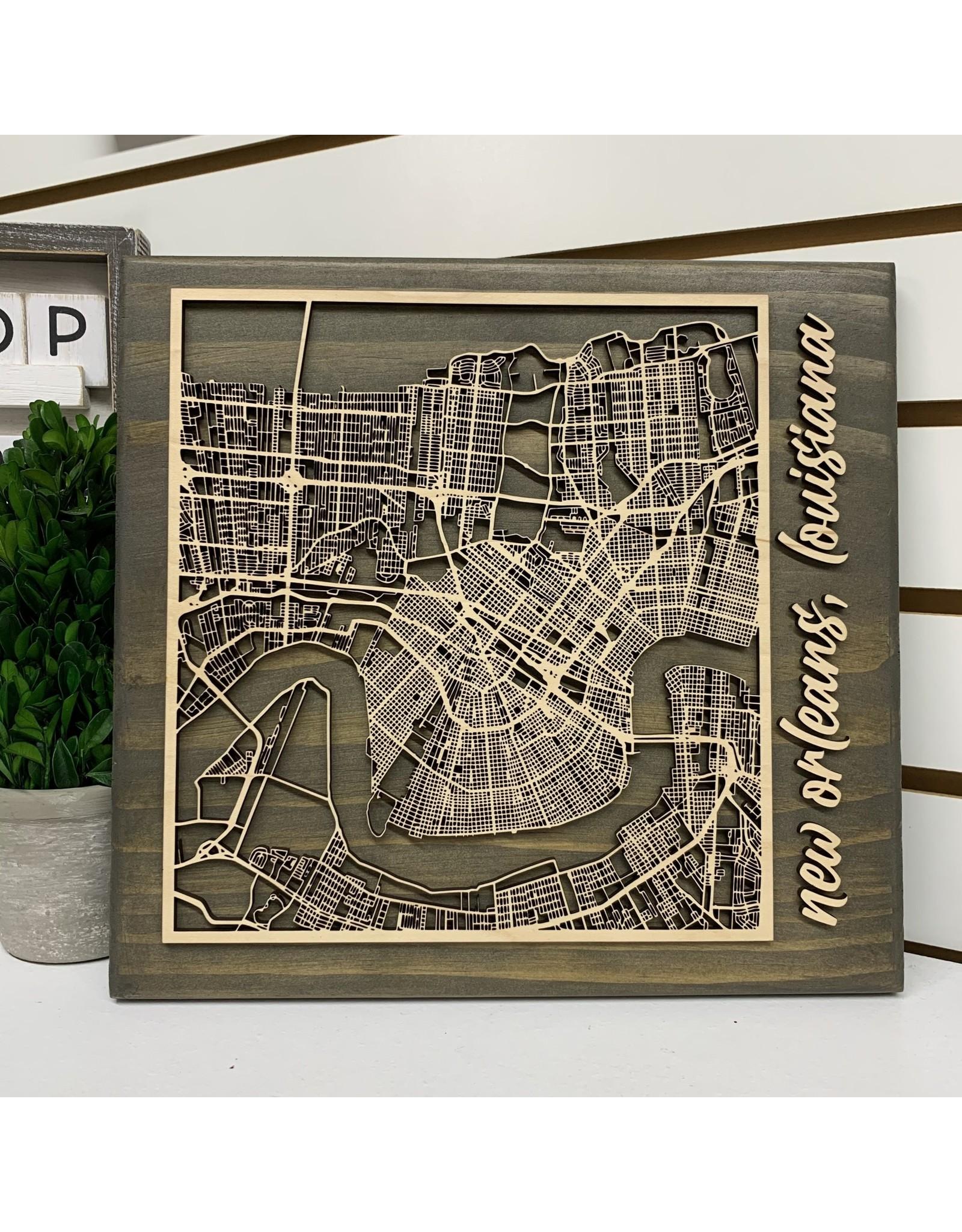 Miche Designs MICHE-NO STREET MAP CUTOUT LASER 3D SIGN