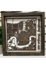 Miche Designs MICHE-NO STREET MAP CUTOUT LASER 3D FARMHOUSE SIGN