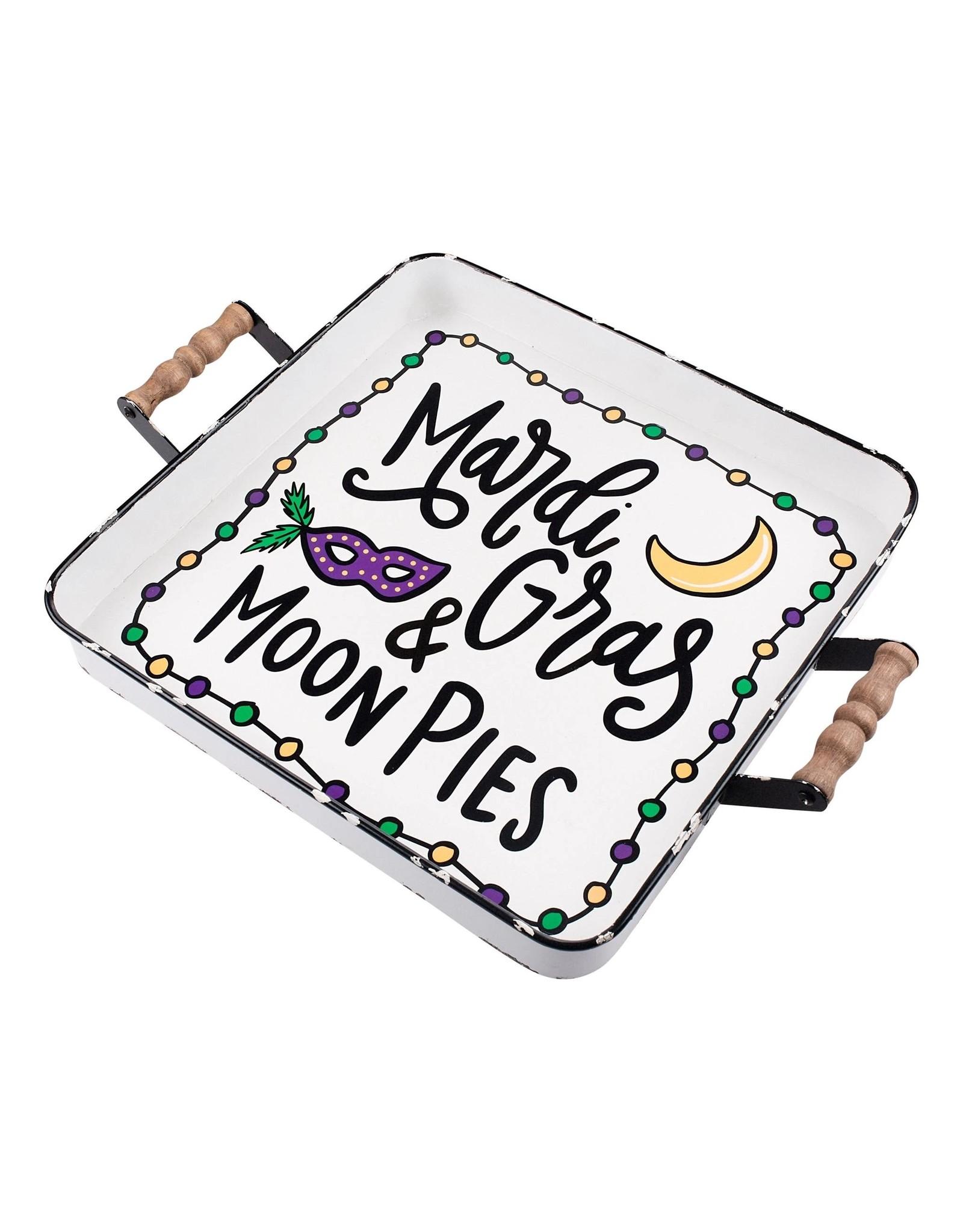 Glory Haus Mardi Gras & Moon Pies Enamel Tray
