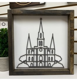 Miche Designs MICHE-NEW ORLEANS ST LOUIS CATHEDRAL FARMHOUSE LASER SIGN 12X12