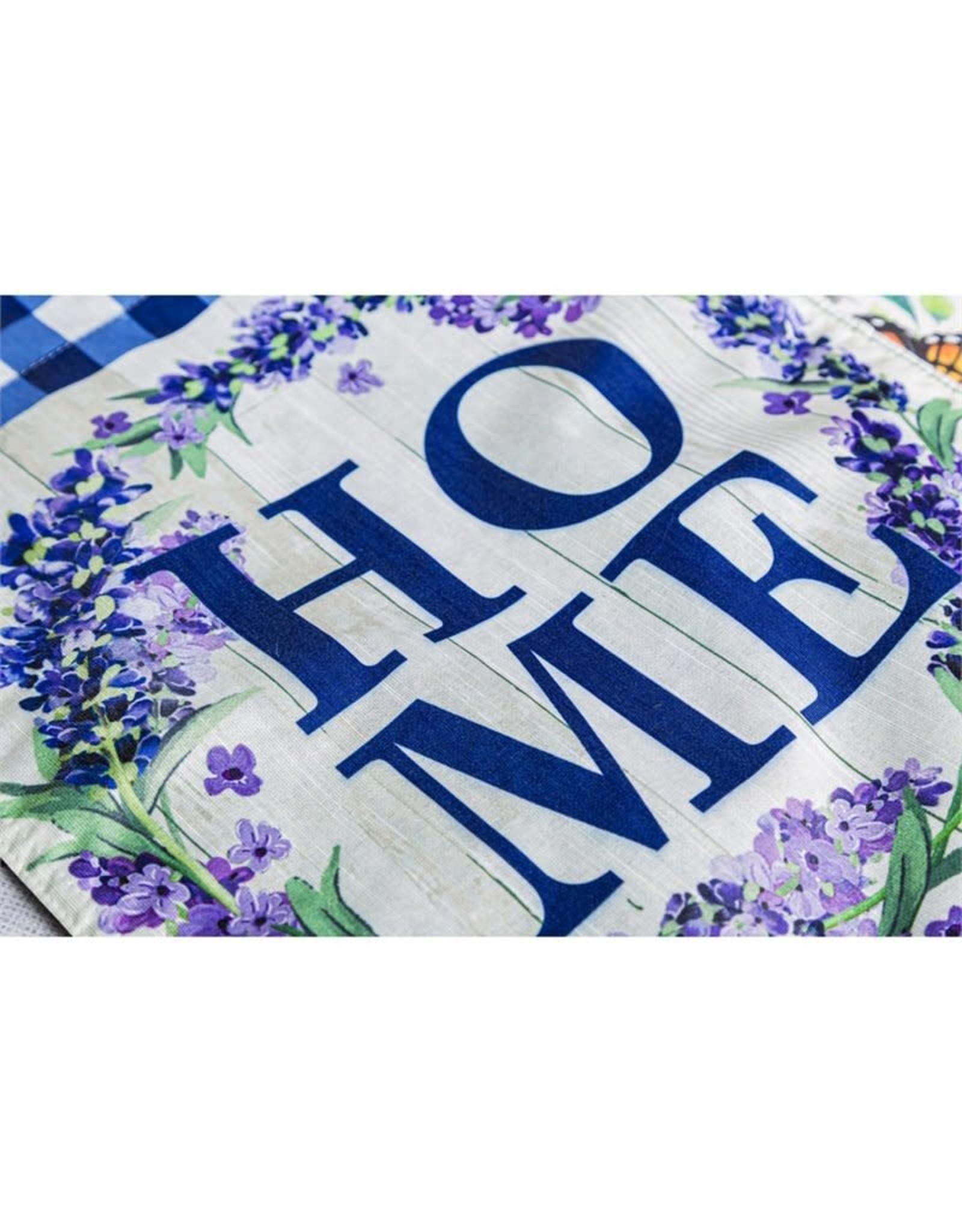 Evergreen Enterprises HOME Wreath Garden Strié Flag