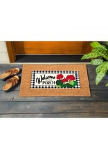 Evergreen Enterprises Welcome to Our Porch Geraniums Sassafras Switch Mat