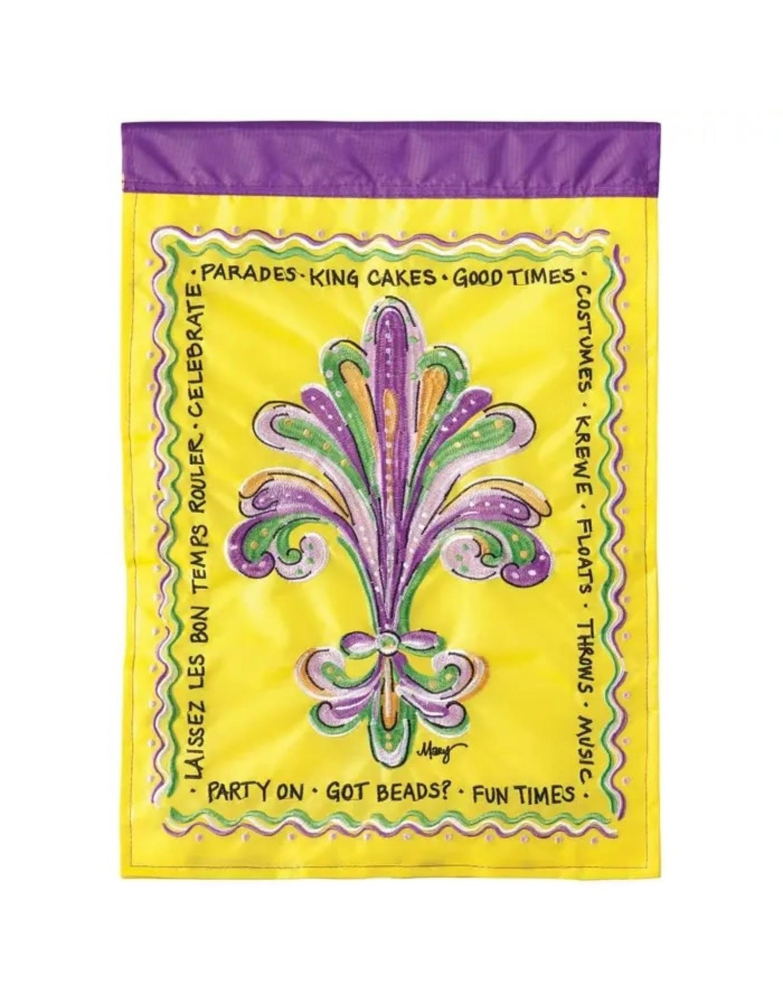 Magnolia Garden Flag Company Fleur De Lis Mardi Gras Garden Flag