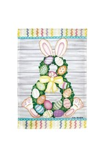 Magnolia Garden Flag Company Easter Bunny Wreath Large House Print Flag
