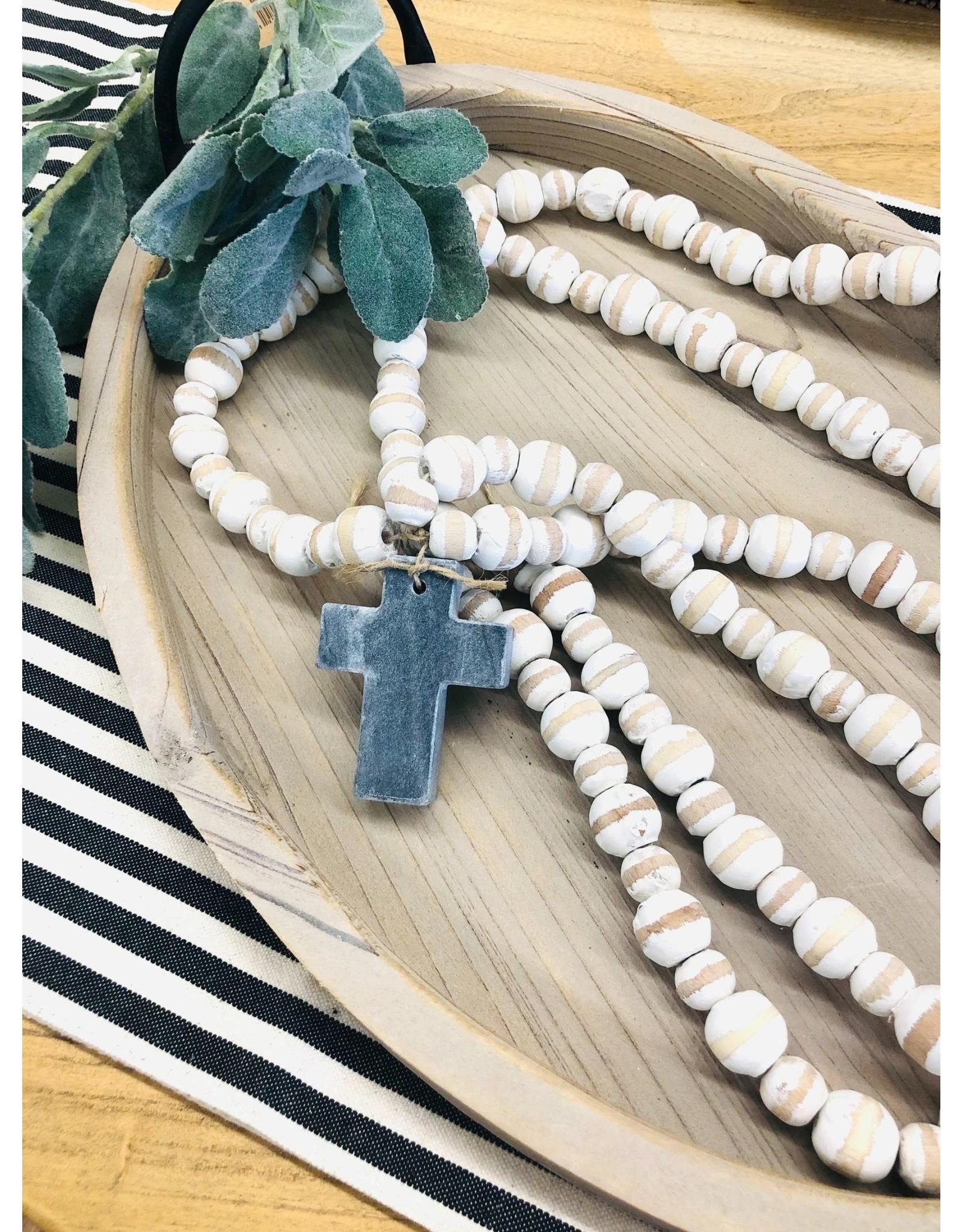 Mudpie Gray Marble Cross