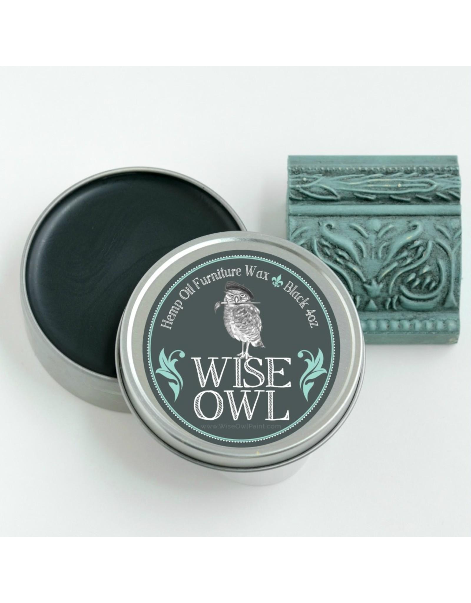 Wise Owl Paint Hemp Oil Furniture Wax-Black 4oz