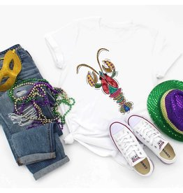 MidWest Tees Funky Mardi Gras Crawfish - 2Xlg
