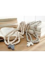 Mudpie White Marble Cross Beads
