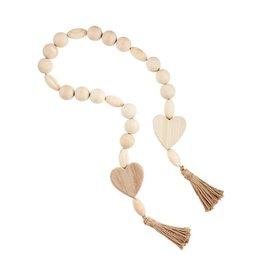 Mudpie Decorative Charm Beads-Heart
