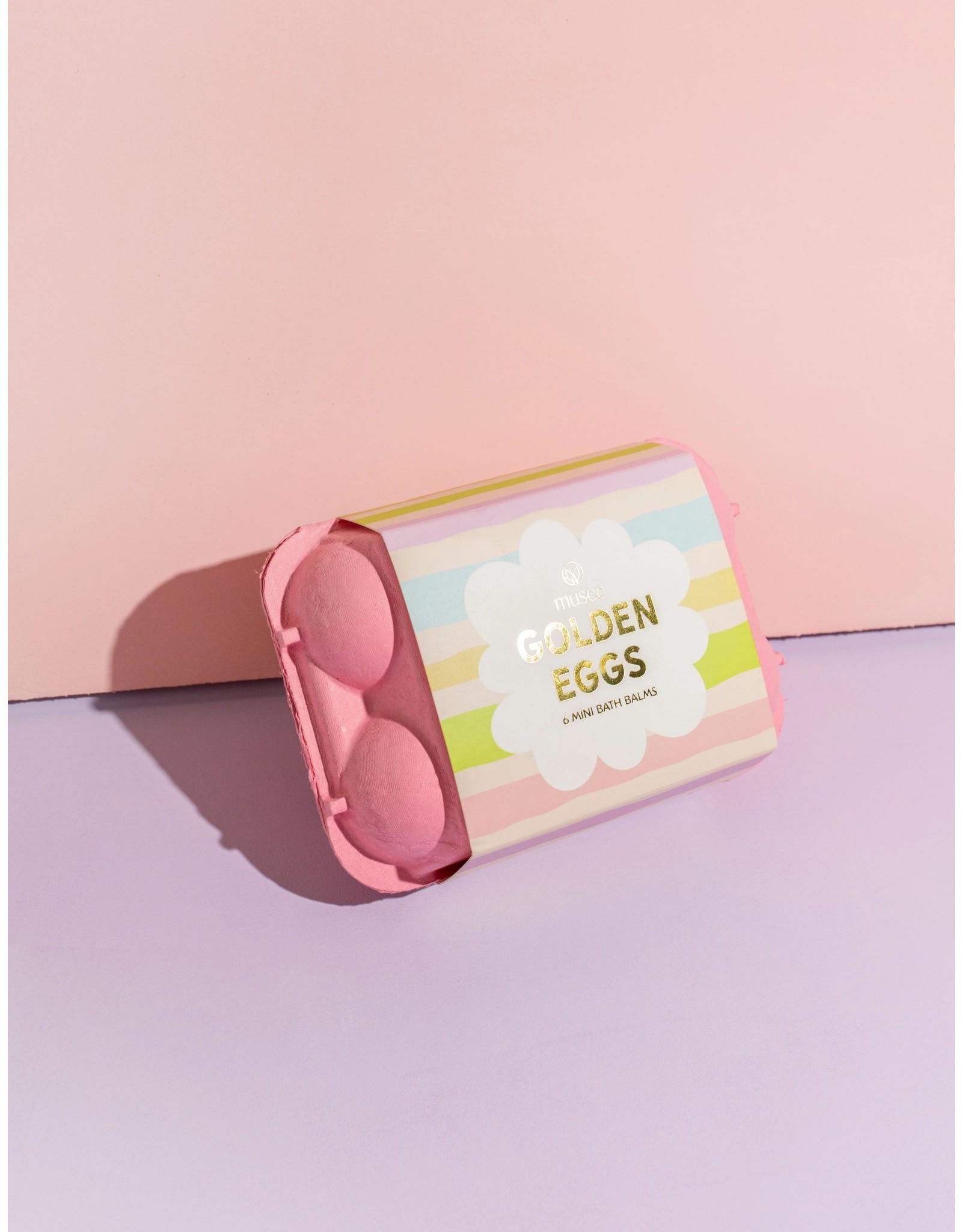 MUSEE BATH Pink Golden Egg Carton
