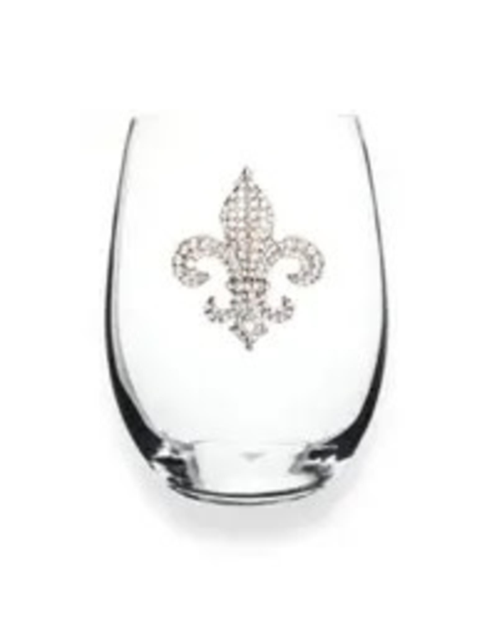 The Queen's Jewels Diamond FDL Jeweled Stemless Wine