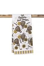 The Parish Line Eat Oysters, Love Longer-Kitchen Towel