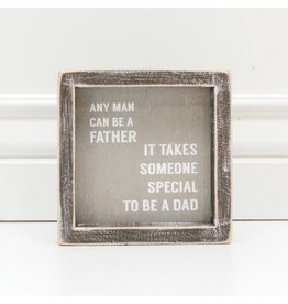 Adams & Co. Wood Framed Sign (Any Man Can Be A...) Gray/White