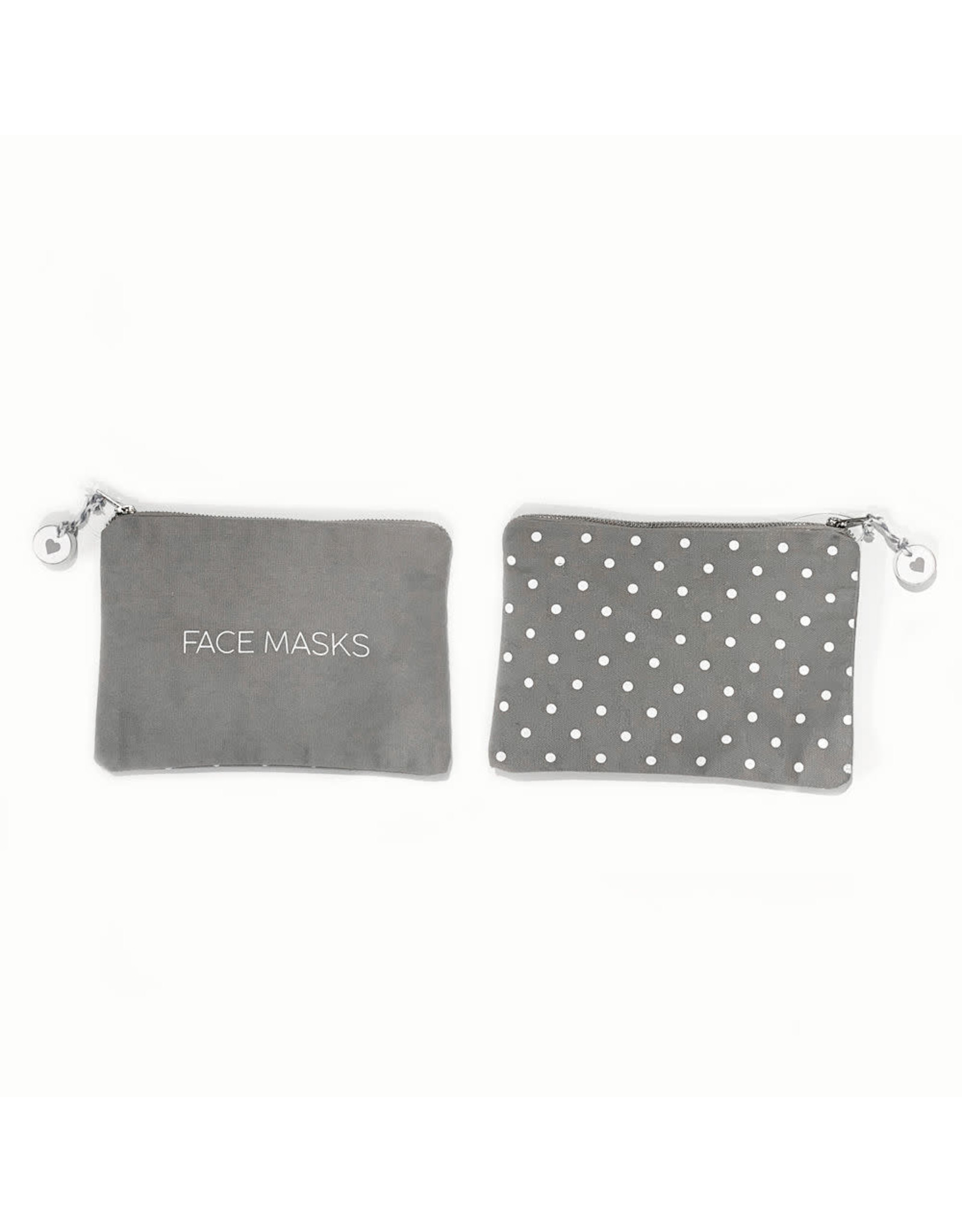Adams & Co. Canvas Bag Face Masks (FCE) gy/wh