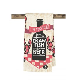 The Parish Line Here for the Crawfish and Beer - Kitchen Towel