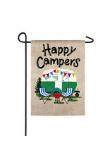 Evergreen Enterprises Happy Campers Travel Trailer Garden Suede Flag