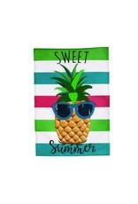 Evergreen Enterprises Sweet Summer Pineapple Garden Burlap Flag