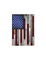 Evergreen Enterprises Wood Stripe American Flag Garden Suede Flag