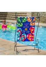 Evergreen Enterprises Plaid Flip Flops Garden Applique Flag