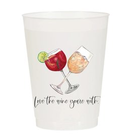 Sip Hip Hooray Love the Wine You're With - Reusable Cups - Set of 10