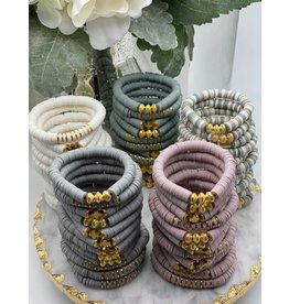 MM Custom Creations Solid Bracelet w/ Gold or Silver Accents