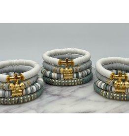 MM Custom Creations Solid Bracelet w/Gold Cross
