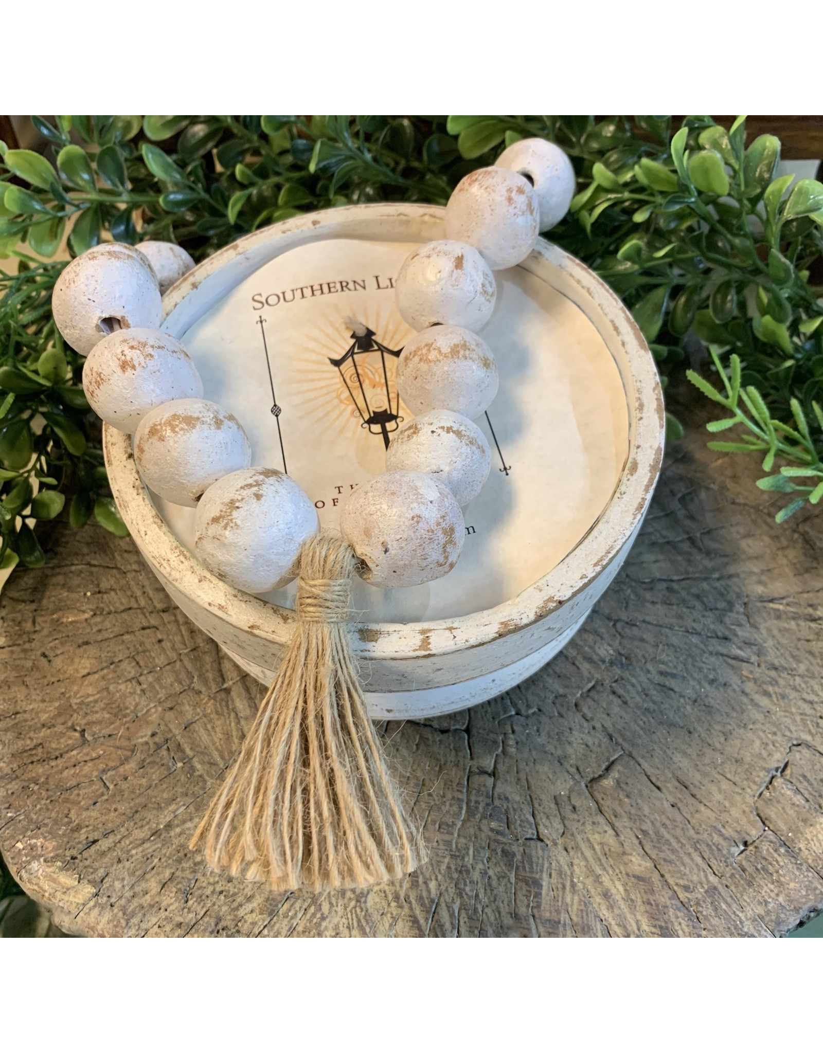 Southern Lights Round Rustic Bead Bowl-South Charm16-18oz