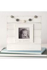 Mudpie White So Loved Garland Frame