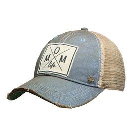 "Landmark Products Sky Blue ""Mom Life"" Distressed Trucker Cap"