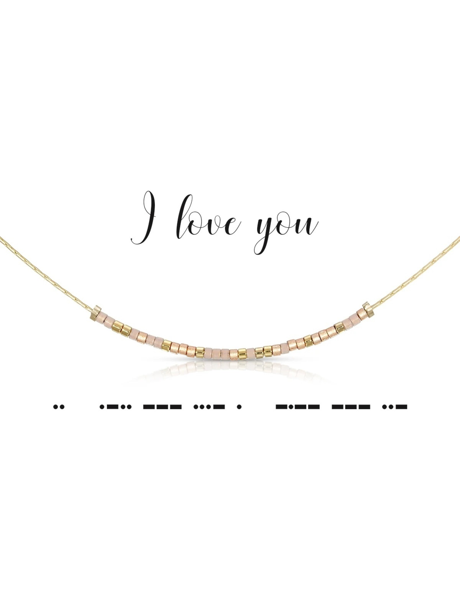 Dot And Dash Designs I Love You Necklace
