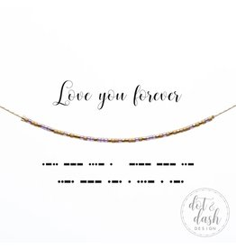 Dot And Dash Designs Love You Forever Necklace