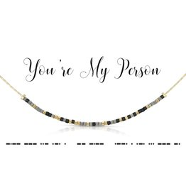 Dot And Dash Designs You're My Person Necklace